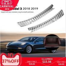 Нержавеющая сталь, Автомобильный задний багажник, Внутренний Внешний бампер, защита, Накладка на порог, аксессуары для Tesla модель 3