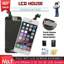 Ensemble complet écran tactile LCD de remplacement, 100% testé, Grade AAA, pour iPhone 5 5G 5C 5s SE