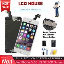Grade aaa tela para iphone 5 5g 5c 5S se lcd conjunto completo 100% digitador da tela de toque 5S 5se substituição exibição