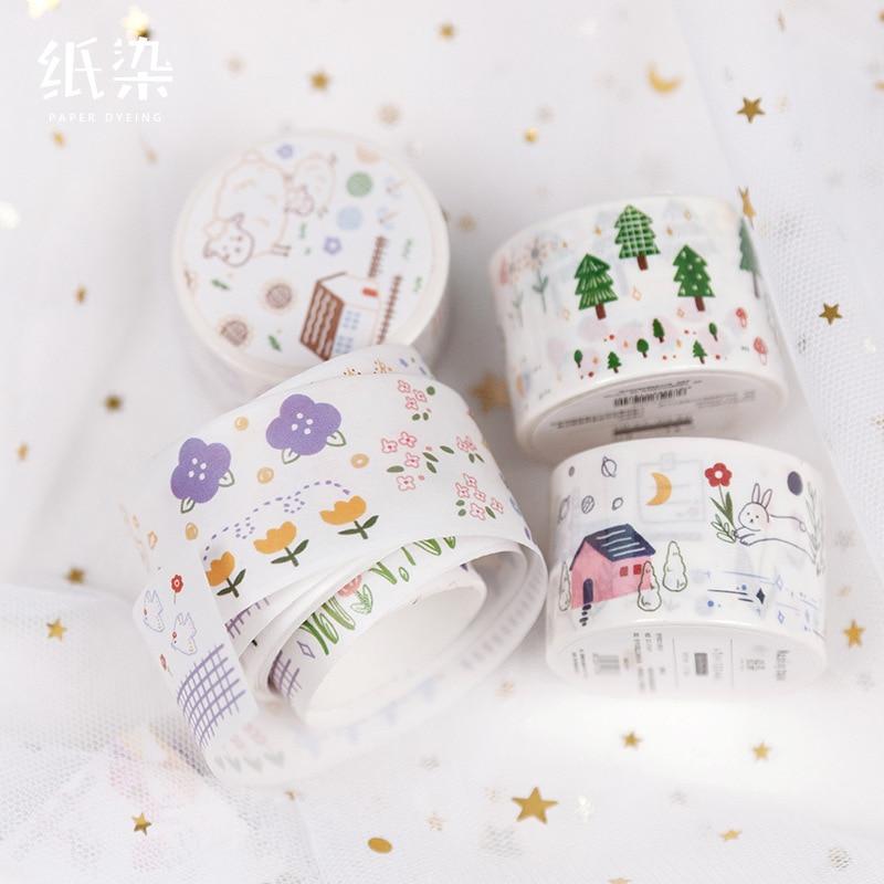 1set/1lot Washi Masking Tapes Cute Girly Wind Decorative Adhesive Scrapbooking DIY Paper Japanese Stickers 5M