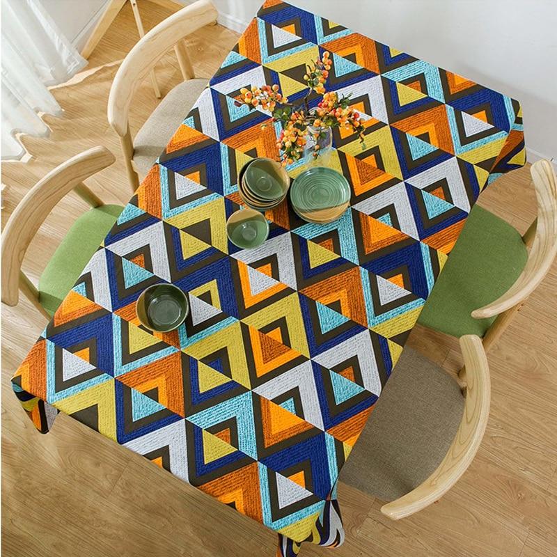 Современные Простые хлопковые плотные холщовые геометрические v образные скатерти для журнального стола скатерть покрытие полотенце|Скатерти|   | АлиЭкспресс