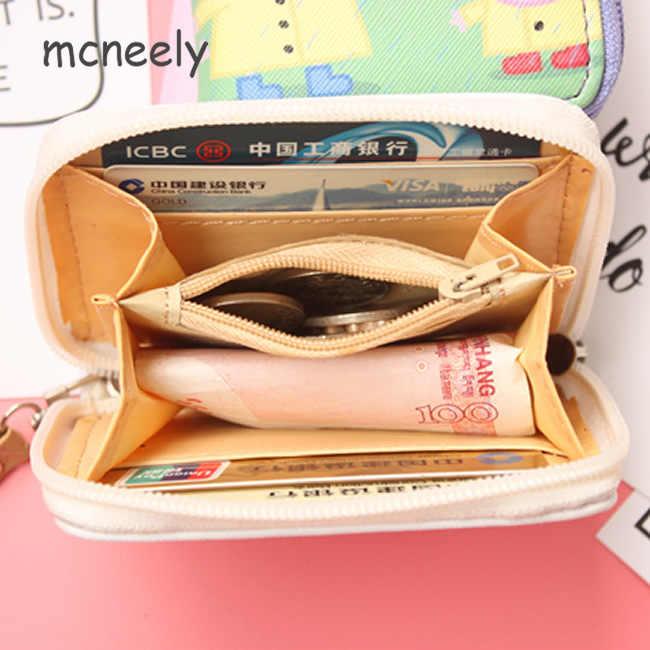 Mignon chat chien femmes Mini portefeuille en cuir porte-monnaie dames portefeuilles sac d'argent femme porte-carte mignon petits portefeuilles femmes sac à main