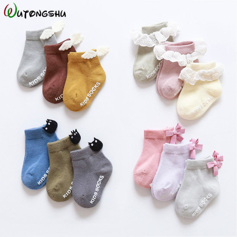 3/5 Pairs Baby Socks Princess Warm Infant Socks Newborns Socks Birthday Gift For Boy Girl 0-24 Months Summer Socks For Baby