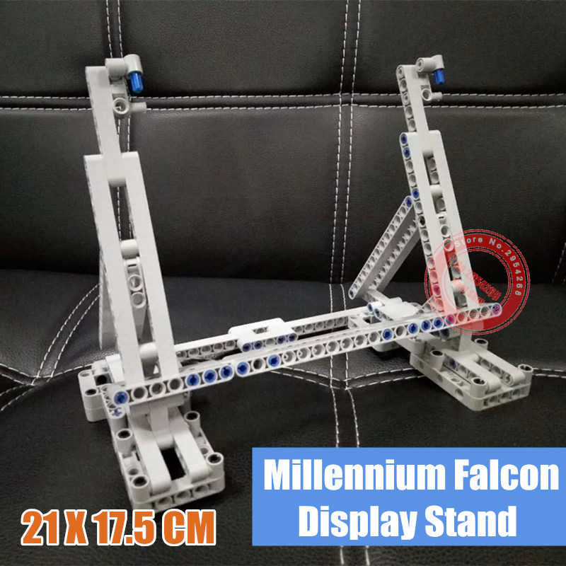 Neue MOC Vertikale Display-ständer Fit <font><b>Legoings</b></font> Star Wars FÜR <font><b>05007</b></font> 75105 Ultimative Collector Falcon Modell Kind Geschenk image