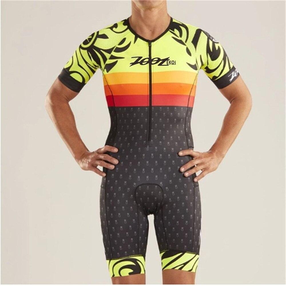 Zootekoi Sommer Skinsuit herren Triathlon Kurzarm Kleidung Fahrrad Kleidung Set MTB Bike Overall Kit Ropa Maillot Ciclismo