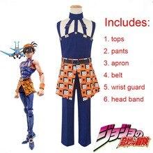 Fantasia da aventura do jojo, cosplay do anime jojo, uniformes para homens e mulheres, fantasias para cosplay