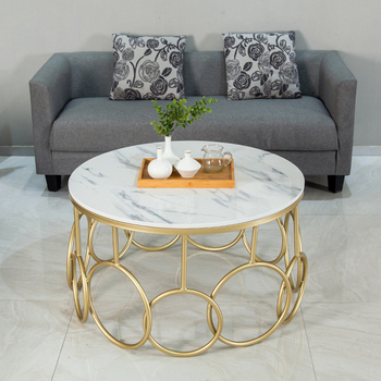 Nordic luxury marble center coffee table  2
