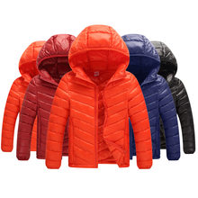 Children down jacket is short of thin warm hooded down jacket coat Winter Coats Children Girls(China)