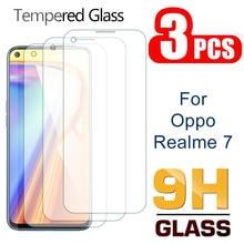 Высококачественный защитный чехол для Oppo Realme 7 Pro 7Pro закаленное Стекло Экран протектор для Oppo Realme7 Realme7pro Безопасность защитная пленка на пер...