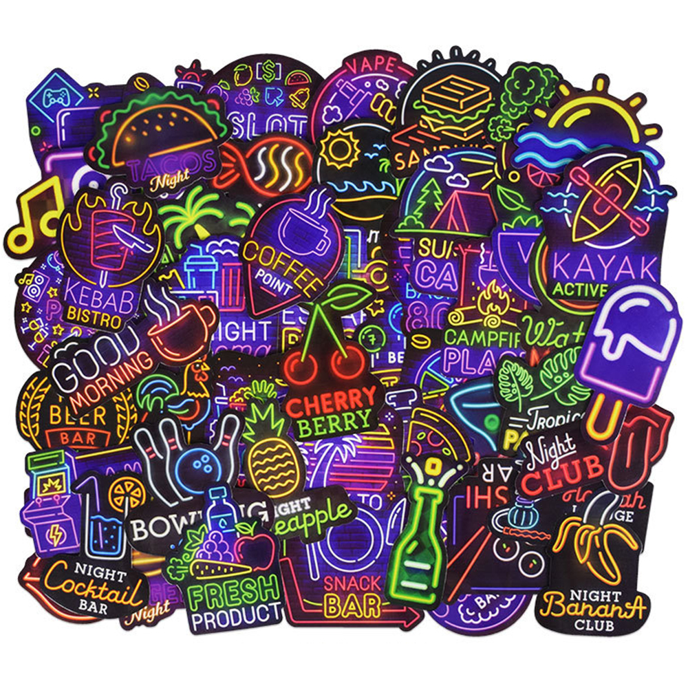 Laptop Stickers Vinyl 50pcs Waterproof Fashion Graffiti Stylish For PC Tablet Bicycles Trunk Guitar Skateboard Motorcycle Decals
