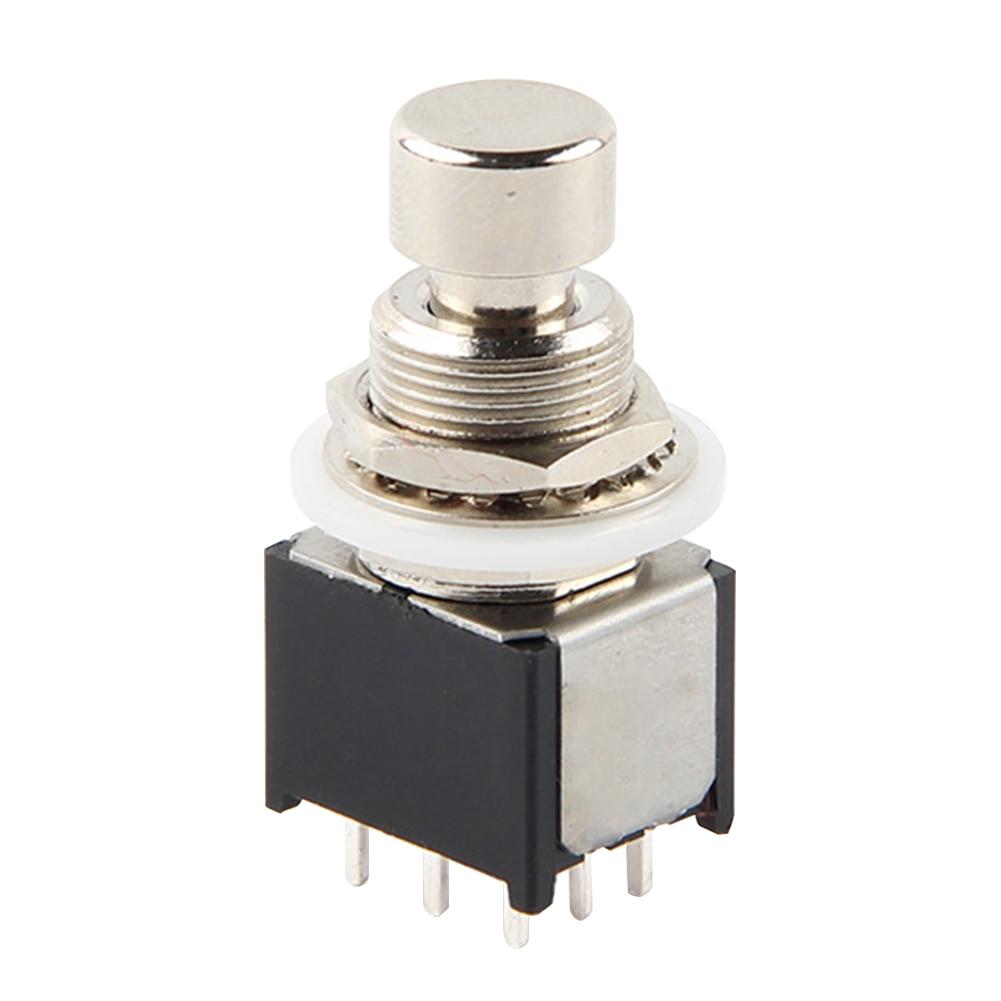9pin 3PDT прочный Педальный ящик аксессуары электрическая мини-кнопка портативный ножной переключатель истинный обход Части Металлический стоматологический гитарный эффект