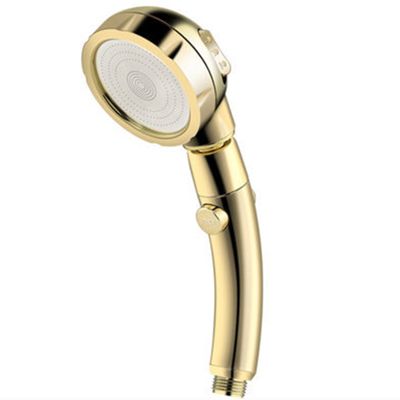Handheld Shower Head Adjustable Gold Replacement Part Tool Spare Bathroom High Pressure 1pc