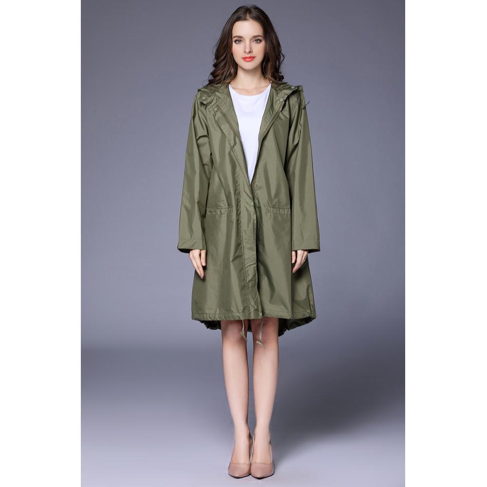 New Adult Women Rain Coat with Pocket Waterproof Hiking Tour Raincoat Poncho Capa De Chuva Black Cape Cover Hooded