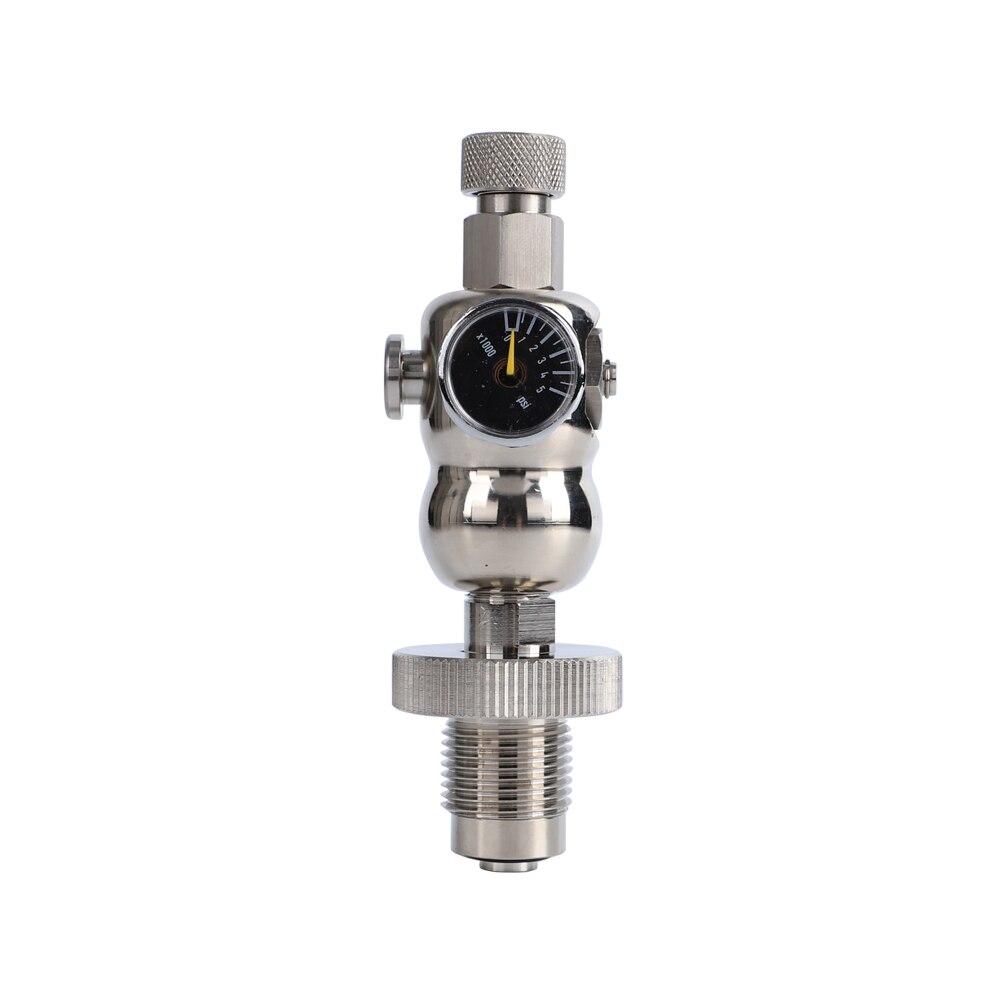 Airgun Paintball Accessories Stainless Steel Hoist Vent Valve Oxygen Cylinder Tank Inflation Valve CO2