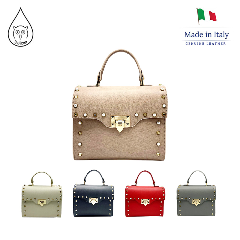 JUICE ,made In Italy, Genuine Leather, Women Bag,women Handbag,saffiano Leather Hard Leather 112137