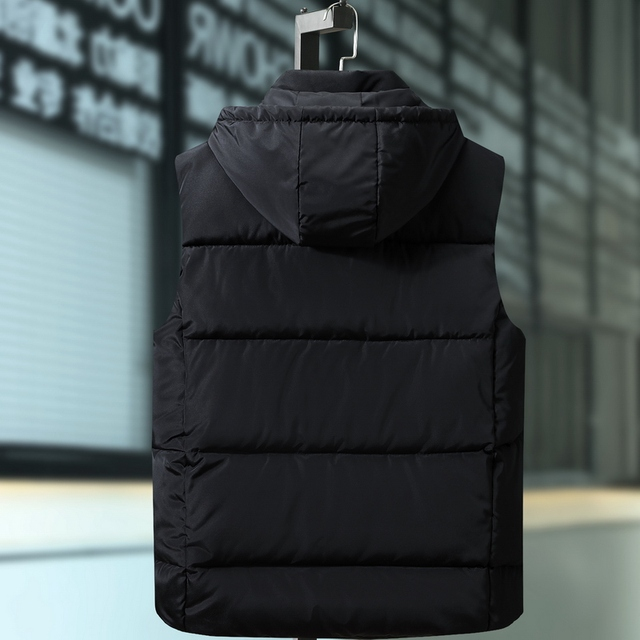 Plus Size 9XL Mens Winter Jackets Casual Thick Vests Men Sleeveless Hoodie Coats Male Cotton Padded Warm Slim Pocket Waistcoat Others Men's Fashion