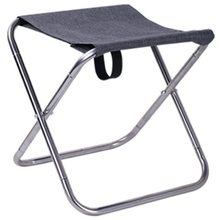 ABSF Portable Stainless Steel Folding Stool Outdoor Fishing Stool Camping Chair Foldable Subway Mazza Stool