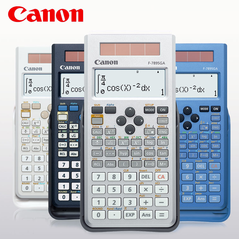 1 Pcs Canon F-789SGA Student Exam With Scientific Function Calculator High School University Postgraduate Intermediate