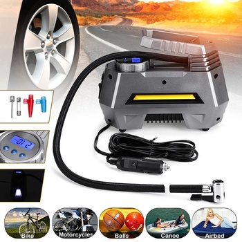 Hot 150Psi 12V Electronic Digital Portable Car Wheel Tire Inflatable Pump Inflator Air Compressor Electric Inflating Machine Noz