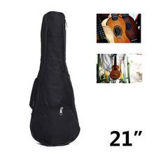 21 Guitar Bag Nylon oxford Ukulele Waterproof Guitar Cover Gig Bag Soft Case Adjustable Shoulder Straps Guitar Carry Bags Black yibuy black 36 inch nylon water resistant gig guitar bag backpack