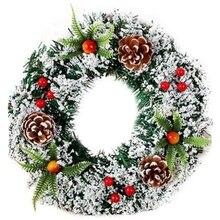 Рождественские украшения для дома ротанга праздничные вечерние ротанга DIY ВЕНОК Рождественское украшение гирлянды вечерние висячие украшения
