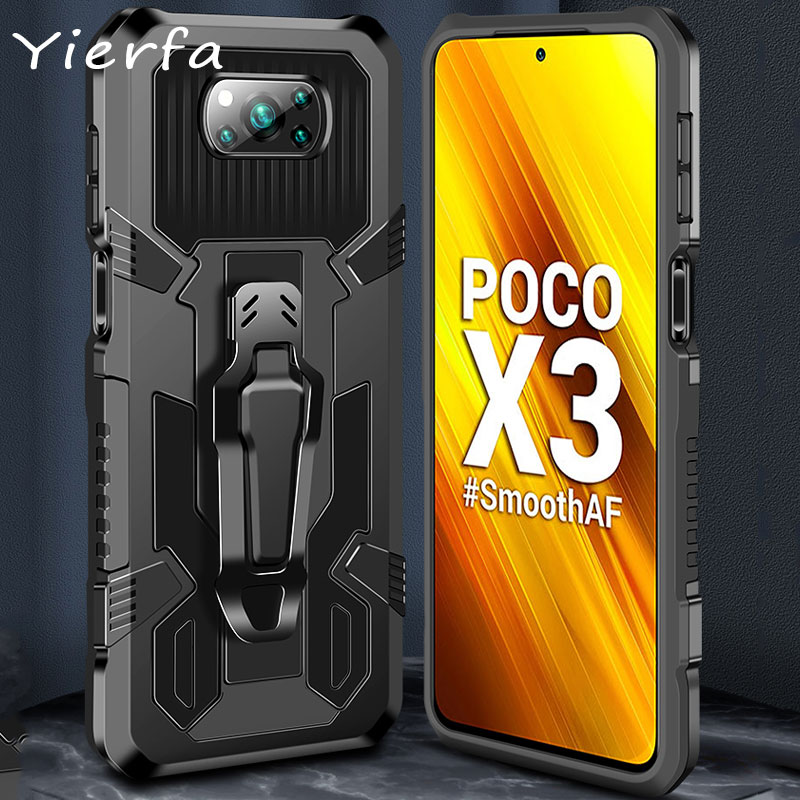 M3 Cases For Xiaomi Poco X3 NFC Case Magnetic stand Cover Hard PC Shockproof Phone Case For Xiaomi Mi 10T Pro Lite Back Cover