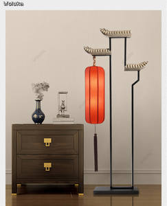 Floor-Lamp Bedside Bedroom Living-Room Retro Art CD50 W07 Chinese-Style
