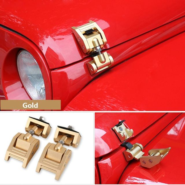 Metal Engine Hood Latch Lock Catches Kits for Jeep Wrangler JK Unlimited Rubicon 2008 2009 2010 2012 2013 2014 2015 2016 2017 5