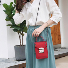 купить Pvc Women Jelly Bag Fashion chain Shoulder Messenger Bags Mini Rivet Phone Bag  Luxury Ladies Crossbody 2019 Female Clutch New по цене 871.17 рублей