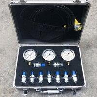 Portable Pressure Gauge Table Test Hydraulic Pump Measurement Combination Excavator Pressure Gauge Accessories