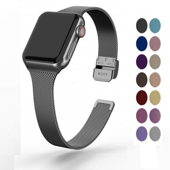 Apple watch strap 38mm40mm42mm44mm Milanese stainless steel suitable for iwatch54321 bracelet ring