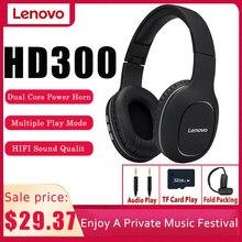 Nowe słuchawki bezprzewodowe Lenovo HD300 zestaw słuchawkowy Bluetooth 5.0 Subwoofer sport Running zestaw słuchawkowy Unisex redukcja szumów połączenie wideo