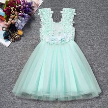 Baby Girls Outfits Tutu Dress Flower Lace