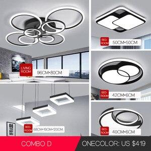Image 1 - LED Ceiling Chandelier Lighting VVS Modern Simple Round Fashion Circle led Light Living Room Dining Room Study Room Bedroom