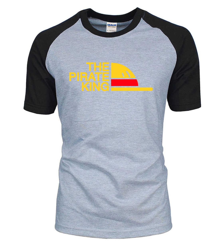 Uma peça o pirata rei marca camisetas homens 2020 verão masculino raglan t camisa 100% algodão hip hop streetwear masculino topos t-xxl