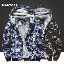 Kurtka wojskowa mężczyźni zimowe bluzy z polaru granatowy bluza moro płaszcze odzież męska Casual gruba ciepła bluza z kapturem odzież wierzchnia 4XL