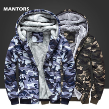 Military Jacket Men Winter Fleece Hoodies Navy Camouflage Sweatshirt Coats Mens Clothes Casual Thick Warm Hoodie Outerwear 4XL