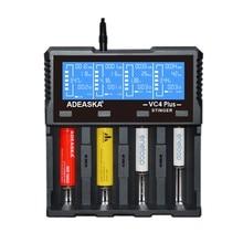 LEORY ADEASKA VC4 PLUS chargeur de batterie USB à affichage LCD Intelligent pour batterie IMR/Li ion Ni MH/ni cd/LiFePO4