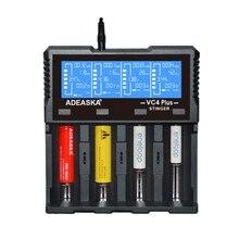 LEORY ADEASKA cargador de batería inteligente VC4 PLUS, pantalla LCD, USB, para IMR/Li ion Ni MH/ni cd/LiFePO4