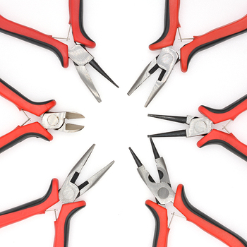 Red Stable Safe Jewelry Tools & Equipments Needle Nose Pliers Jewelry Making Hand Accessories Tool DIY Rubber Hand Tools 5 inch mini long needle nose plier jewelry making hand tool diy beading jewelry tool