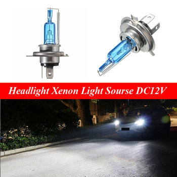 H4 Super Bright White Moto Halogen Lamp Bulb Hi/Lo Beam 6000K P43t Scooter Headlight Xenon Light Sourse DC12V rockeybright h4 bi xenon headlight bulb controller hid xenon bulb h4 hi lo headlamp relay cable wiring harness for h4 xenon lamp