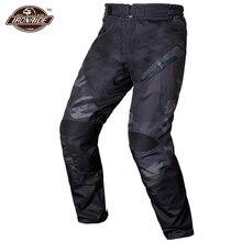 הסוואה גברים מכנסיים אופנוע מוטוקרוס מכנסיים עמיד למים מכנסיים אופנוע לביש Moto הגנת עם אישור CE