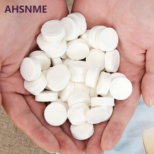 AHSNME 20pcs Compressed towel 22 * 24cm Outdoor travel BBQ disposable towel Nonwoven Pill Towel Makeup Cleansing Towel