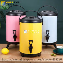 8/10/12L Large Capacity Stainless Steel Milk Tea Barrel Heat Cool Preservation