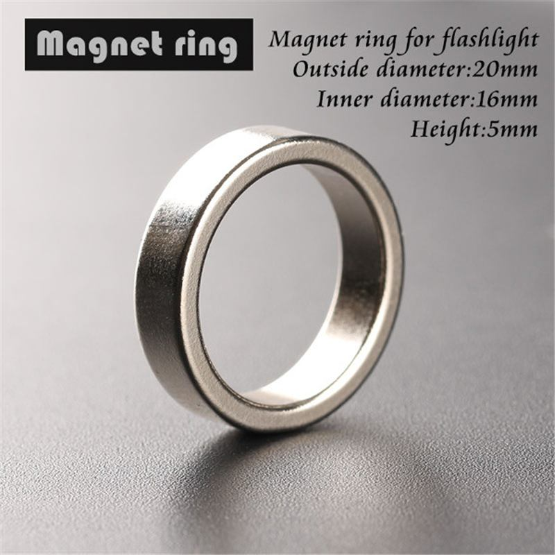 Flash Light Tail Magnet Magnetic Ring 20*16*5mm Ring Flashlight Torch Hoops For Convoy S2 S3 S4 S5 S6 S7 S8 C8 Lighting Lantern