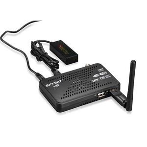 Image 2 - Спутниковый ресивер SKYSAT V9 Mini HD Поддержка CCCamd Cline Newcamd Powervu Biss WiFi 3G Youtube mini DVBS2 приёмочная приставка