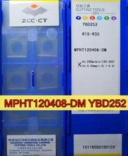 MPHT120408-DM YBD252 10 pcs/sor 100% original ZCC. CT Carboneto De inserção de Processamento: ferro fundido