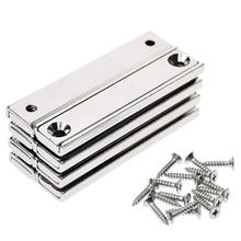 Strong Neodymium Rectangular Pot Magnets, Countersunk Hole Magnets with Mounting Screws  60x13.5x5mm 8PCS