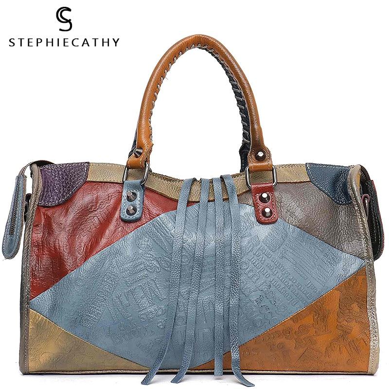 Bags Tote-Bag Italian Luxury Designer Large-Capacity Vintage Women For Girls SC Retro