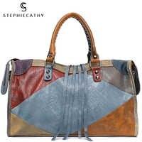SC grandes bolsos de cuero para mujer Retro Vintage italiano cuero bolso bandolera para niñas gran capacidad diseñador de lujo